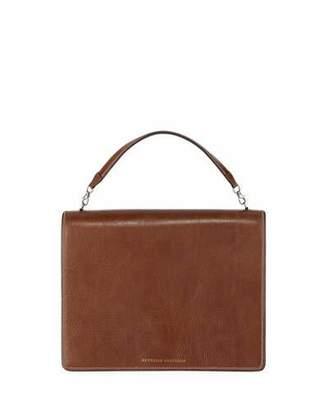 Brunello Cucinelli Leather Top-Handle Crossbody Bag