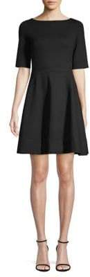 Kate Spade Lace-Up Ponte Fit-&-Flare Dress