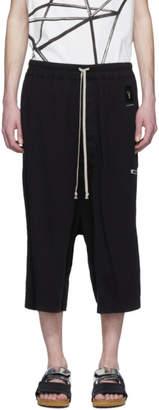 Rick Owens Black Karloff Drawstring Pods Shorts