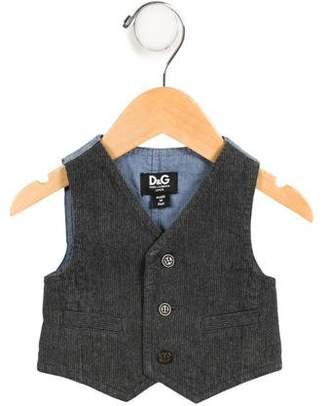 Dolce & Gabbana Boys' Corduroy and Chambray Vest
