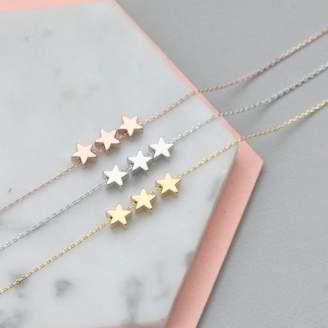 Nell Little Delicate Three Star Bracelet