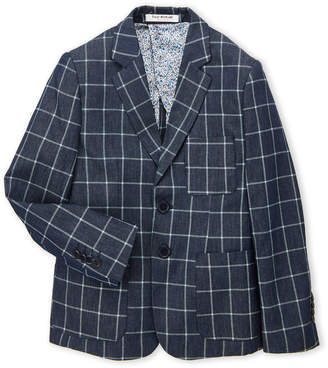 Isaac Mizrahi Boys 8-20) Check Chambray Blazer