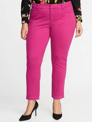 Old Navy Mid-Rise Secret-Slim Pockets Plus-Size Sateen Pixie Chinos