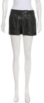 Marc by Marc Jacobs Laser Cut Leather Shorts