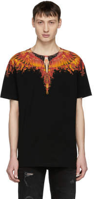 Marcelo Burlon County of Milan Black Flame Wing T-Shirt