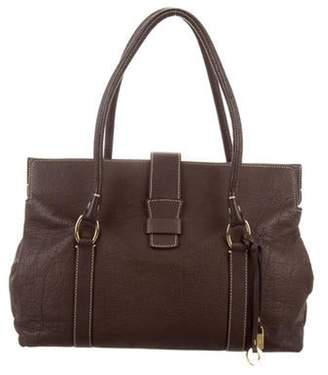 Loro Piana Grained Leather Tote Brown Grained Leather Tote