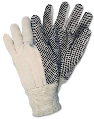 Memphis CRW8808 Dotted Canvas Gloves White 12 Pairs