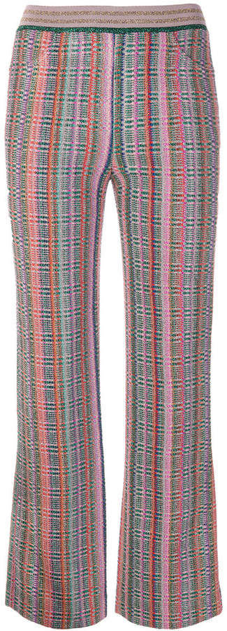 Missoni high waisted flared trousers