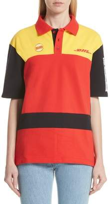 Vetements DHL Slim Fit Polo