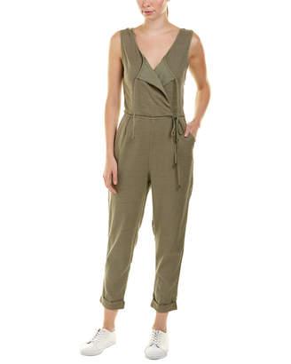 Splendid Surplice Linen-Blend Jumpsuit