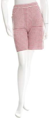 Chanel Striped Knee-Length Shorts w/ Tags