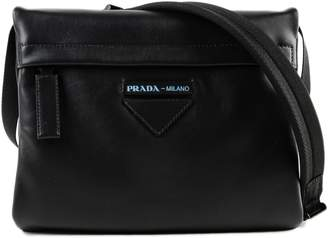 Prada Folding Leather Crossbody Bag