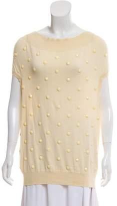 Stella McCartney Heavy Embellished Sleeveless Sweater