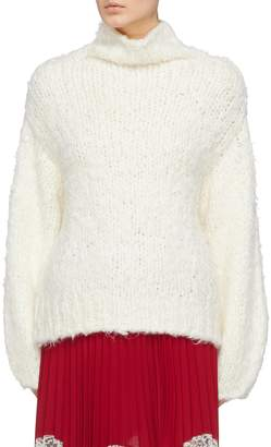 Elizabeth and James 'Hedda' silk-cashmere chunky knit turtleneck sweater