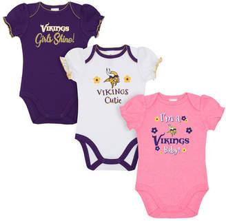 Gerber Minnesota Vikings 3 Pack Creeper Set, Infants (0-9 Months)