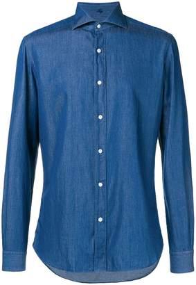 Fay denim button-down shirt