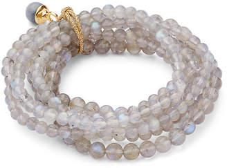 Catherine Canino Labradorite Stretch Bracelet Set - Gray