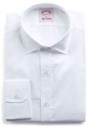 Hamilton White Solid Pima Twill Shirt