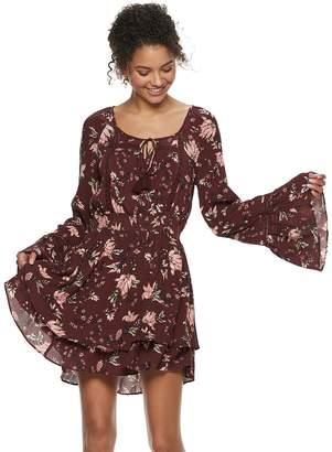 American Rag Juniors' Floral Tiered Peasant Dress
