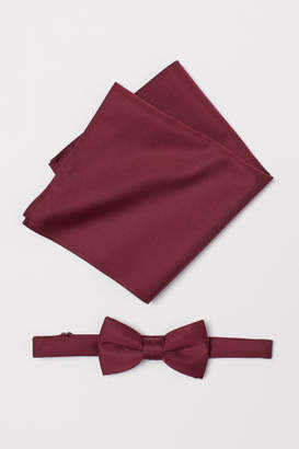 H&M Bow Tie and Handkerchief - Red