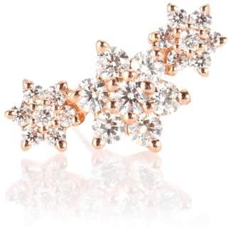 Maria Tash Diamond Flower Garland 18kt gold and diamond single earring