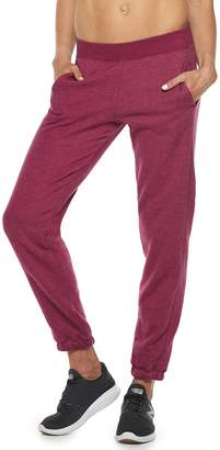 Tek Gear Women's Ultrasoft Fleece Banded-Bottom Mid-Rise Sweatpants