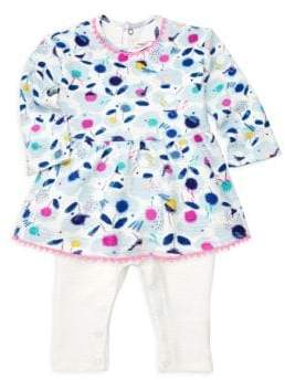 Catimini Baby Girl's All In One Peplum Top and Pants Set