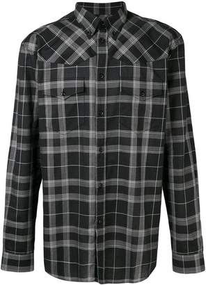 Givenchy plaid pattern shirt