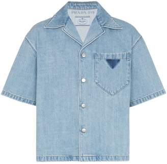 Prada short sleeve denim shirt