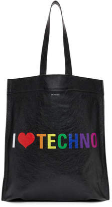 Balenciaga Black I Love Techno Tote