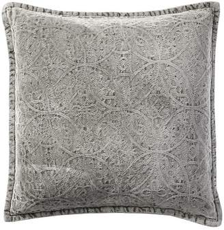 Pottery Barn Chenille Jacquard Pillow Cover - Charcoal