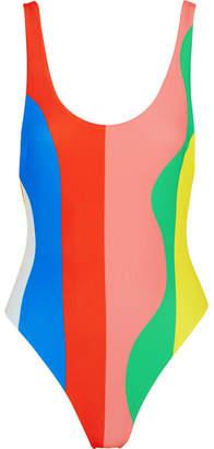 Mara Hoffman Striped Swimsuit - Pink