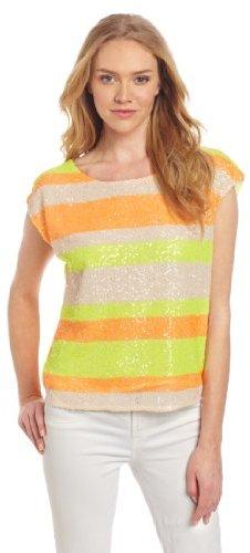 Aryn K Women's Neon Stripe Top