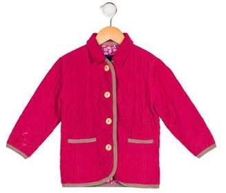 Papo d'Anjo Girls' Quilted Corduroy Coat