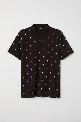 H&M Cotton Polo Shirt - Black