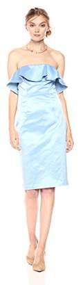 Paris Sunday Women's Strapless Sateen Sheath Dress