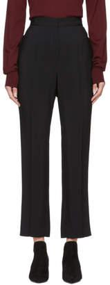 Lanvin Black Grain de Poudre Trousers