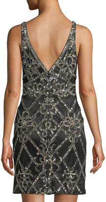 Jovani Fully Beaded Sleeveless Mini Cocktail Dress