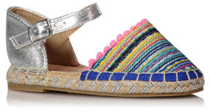 George Embroidered Rainbow Toe Glittering Espadrilles