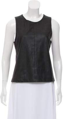 Barneys New York Barney's New York Sleeveless Suede Top