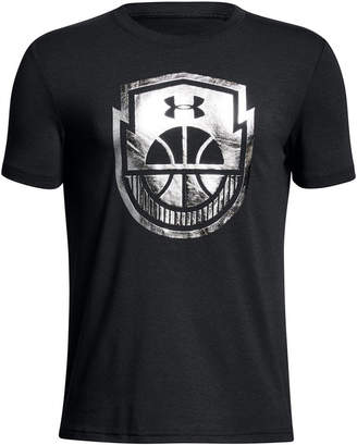 Under Armour Basketball-Print T-Shirt, Big Boys