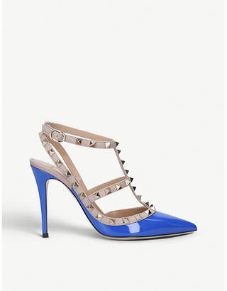 Valentino Rockstud 100 T-bar patent-leather courts