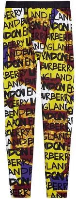 Burberry graffiti print leggings