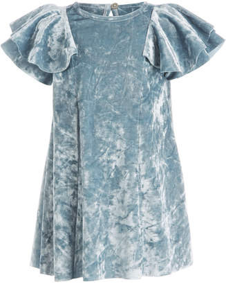 First Impressions Baby Girls Crushed-Velvet Flutter-Sleeve Dress, Created for Macy's