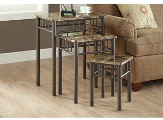 Andover Mills White Oak 3 Piece Nesting Tables Top / Base