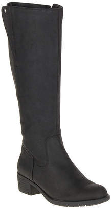 Hush Puppies Womens Polished Overton Riding Boots Block Heel Zip