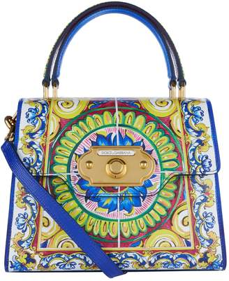 Dolce & Gabbana Grained Leather Welcome Top Handle Bag