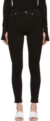 A Gold E Agolde Black Roxanne Super Hi Rise Skinny Jeans