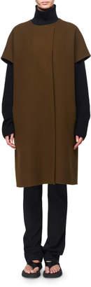 The Row Jill Foamy-Woo Short-Sleeve Vest w/ Belt