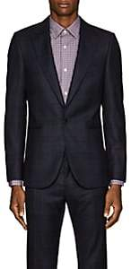 Paul Smith Men's Soho Checked Wool One-Button Sportcoat-Navy
